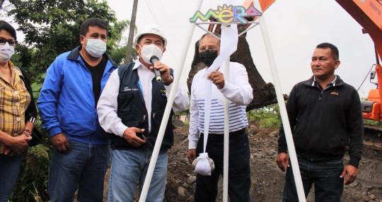 Cerca de $ 2 millones servirán para el alcantarillado en Shell y Madre Tierra / Foto: cortesía Secretaría Técnica Amazónica