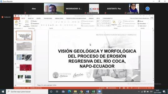 Visión geológica y morfológica del proceso de erosión regresiva del Río Coca / Cortesía del IIGE