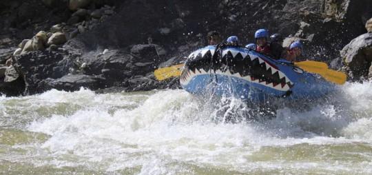 El rafting se ha convertido en uno de los deportes de aventura más practicados en Morona Santiago.  Foto: El Telégrafo