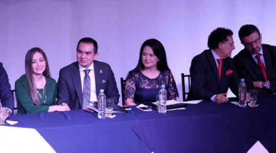 La titular de la Judicatura, María del Carmen Maldonado (c),habló ayer de la evaluación. Foto: El Comercio