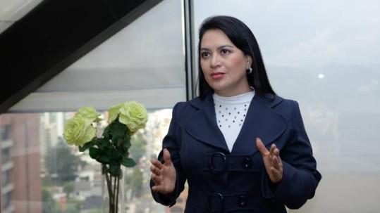 La presidenta del Consejo de la Judicatura, María del Carmen Maldonado, dictó la suspensión provisional del juez Aurelio Quito. Foto: Expreso