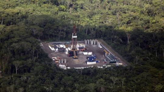 Instalaciones petroleras en el Bloque ITT. Foto: Expreso