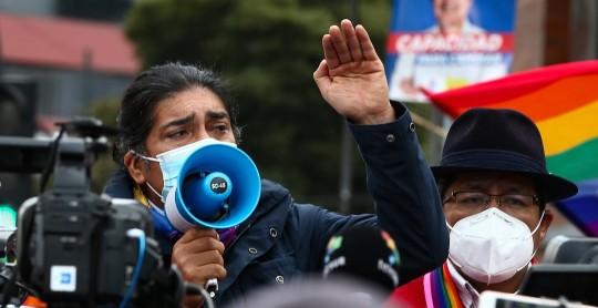 Yaku Pérez pone denuncia en Fiscalía por fraude electoral / Foto: EFE