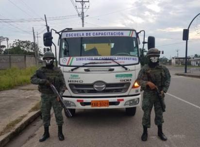 Foto: Expreso. La operación busca disminuir el tráfico de combustible subsidiado.