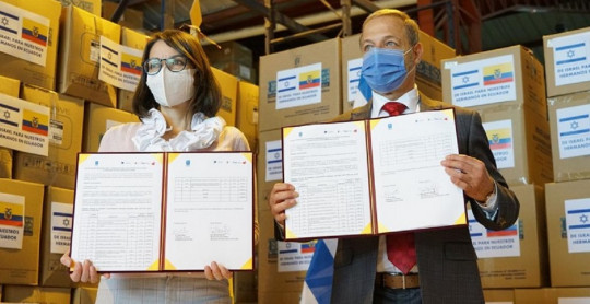 Israel donó equipos de protección y sanitarios a Ecuador / Foto: cortesía Ministerio de Salud