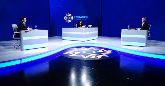 Debate presidencial favoreció a Lasso, según sondeo / Foto: Cortesía del CNE