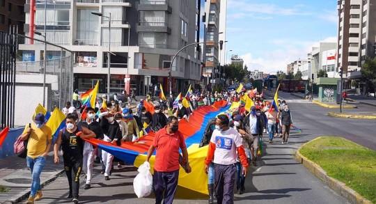 Los sindicatos apoyan la movilización indígena para recontar votos / Foto EFE