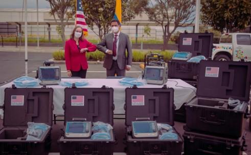 EE.UU. entregó 8 respiradores al Ministerio de Salud  / Foto: Cortesía Embajada de EE.UU