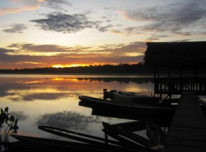 Los visitantes pueden navegar y ver el gran paisaje que existe en la laguna que lleva el mismo nombre del área protegida. Foto: La Hora
