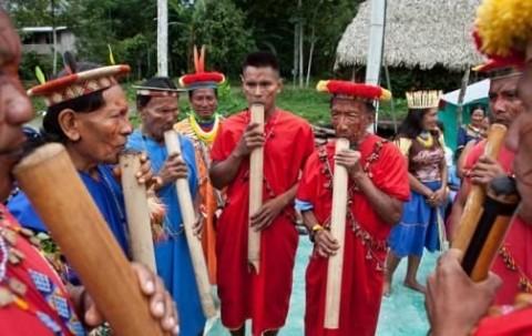 Los Siekopai son una nación transfronteriza que se reparte entre Ecuador y Perú. Foto: Revista Vistazo