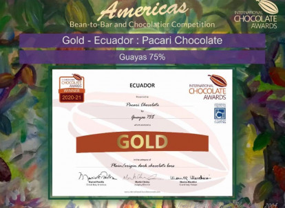 International Chocolate Awards entrega varios premios a Pacari / Foto: Cortesía de Pacari