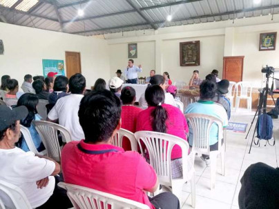 AMBIENTE. Autoridades de las provincias de Zamora Chinchipe, Morona Santiago y Azuay participan de asamblea en contra de la minería. Foto: La Hora