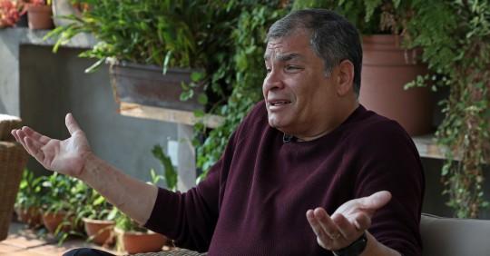 """Rafael Correa: Guillermo Lasso """"va a recibir un país en ruinas"""" / Foto: EFE"""