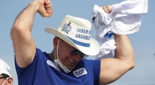 César Monge, Presidente de CREO, falleció / Foto: cortesía Twitter Guillermo Lasso