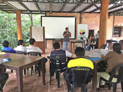 En una hostería de la parroquia Timbara, del cantón Zamora, se realizó un taller. Foto: La Hora