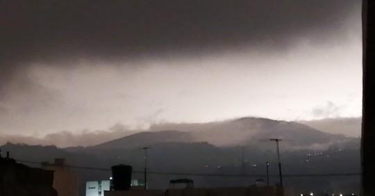 El Sangay oscurece varias ciudades / Foto: Cortesía del Servicio Nacional de Gestión de Riesgos y Emergencias del Ecuador (SNGRE)