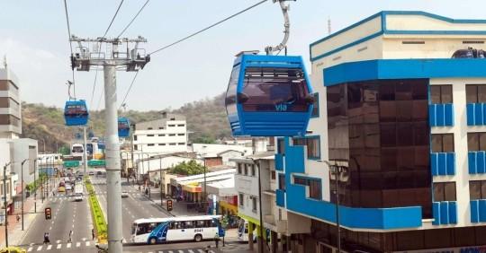 """Guayaquil inaugura moderna """"Aerovía"""" en medio de la pandemia del coronavirus  / Foto: EFE"""