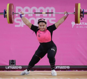 La pesista logró la presea dorada gracias a una marca de 255 kg. Foto: El Telégrafo