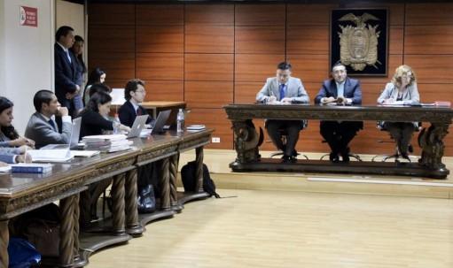 Los jueces Iván Saquicela, Daniella Camacho y Richard Villagómez decidieron sobre el recurso de apelación de Yofre Poma.  Foto: Primicias