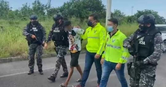 Detienen a sospechoso en caso de asesinato de Efraín Ruales / Foto cortesía Ministerio de Gobierno