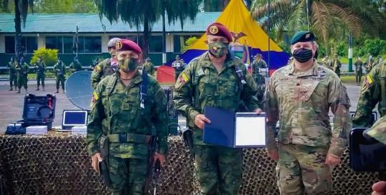 Las Fuerzas Armadas reciben apoyo de Estados Unidos / foto cortesía Embajada de los Estados Unidos