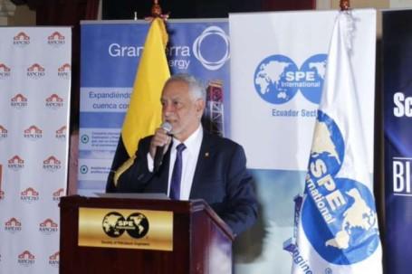 Meta. Pérez considera que se cerrará 2019 con 600.000 barriles diarios. Foto: La Hora