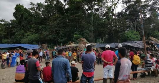 Las protestas en el Bloque 12 comenzaron el 10 de mayo/ Foto: cortesía de la Confeniae