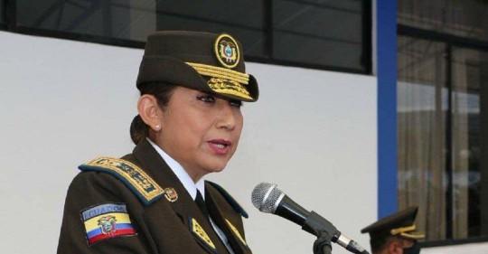 Ecuador designa a la primera mujer como comandante general de la Policía / Foto: Cortesía de la Presidencia
