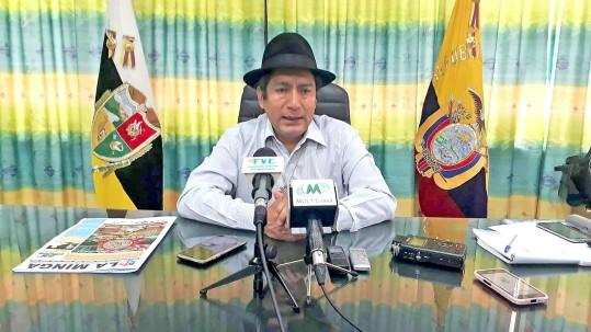 El prefecto dijo que no participará como candidato a la directiva de la Conaie. Foto: La Hora