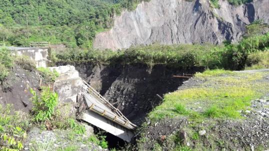 El río Coca continúa generando estragos. Foto / Cortesía Dirección Zonal del Ambiente y Agua Sucumbíos