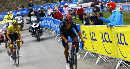 Carapaz marcha tercero en el Tour de Francia / foto: cortesía Richard Carapaz