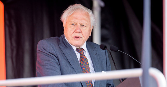 "Ecuador condecora a David Attenborough por el documental ""Galápagos 3D"" / Foto: EFE"