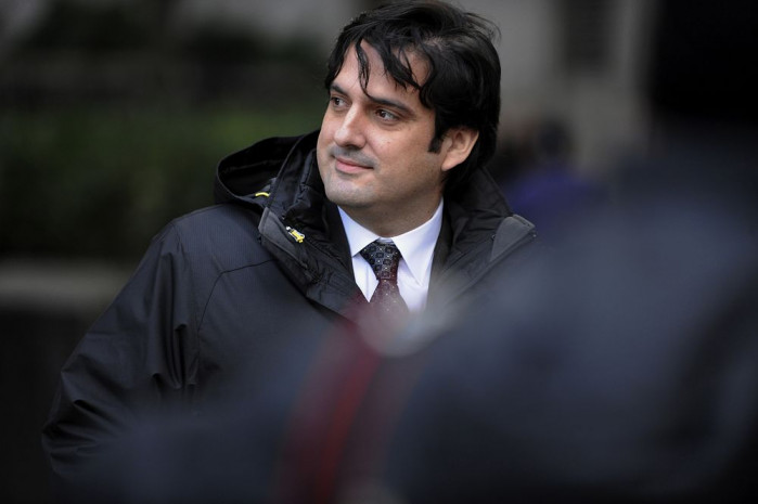 Paul Ceglia exits federal court in New York on Nov. 28, 2012. Photo: Bloomberh