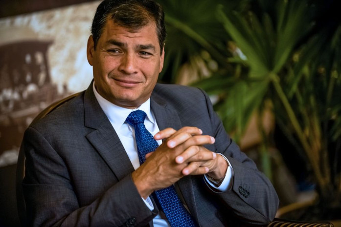 Rafael Correa. Photo: Bloomberg