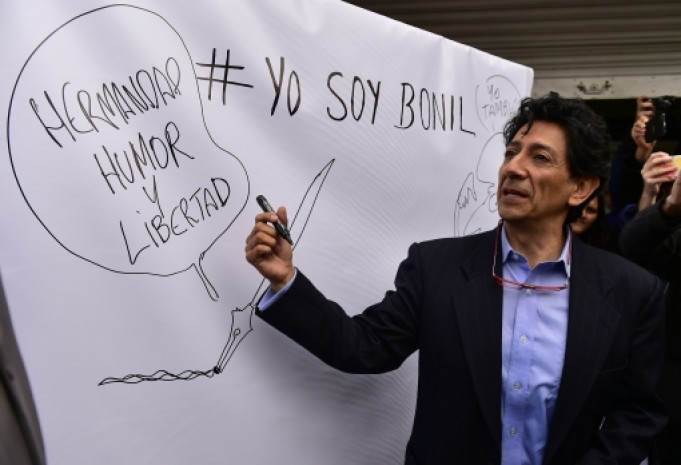 Xavier Bonilla speaking to a rally in Quito, Ecuador, in February 2015. Photo: Rodrigo Buendia/AFP