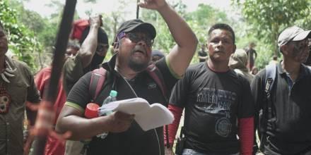 Dirigentes siekopai son denunciados por destrucción de viviendas / foto: cortesía nación Seikopai