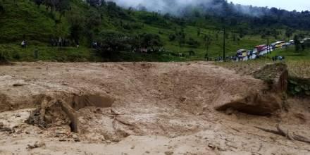 Las lluvias afectan las vías amazónicas / Foto: Cortesía de Ministerio de Transporte y Obras Públicas