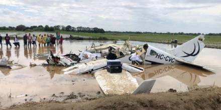 Seis personas fallecieron en accidente de aeronave en Guayas / Foto: Cortesía de la Fiscalía