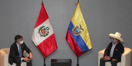 Guillermo Lasso, primer jefe de Estado en reunirse con Pedro Castillo / Foto: cortesía Presidencia