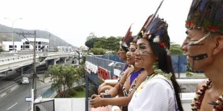 Un grupo folclórico amazónico mostró algunas de las costumbres ancestrales de la Amazonía - Foto: Expreso