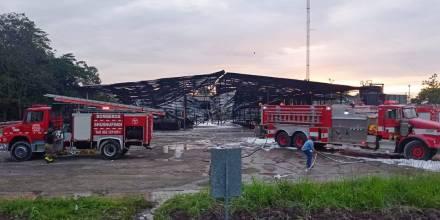 Incendio en estación de Petroecuador provocó alarma en Shushufindi / Foto: cortesía Petreoecuador