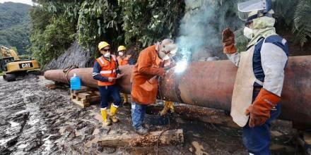 Petroecuador reconduce el SOTE por erosión / Foto: Cortesía Petroecuador