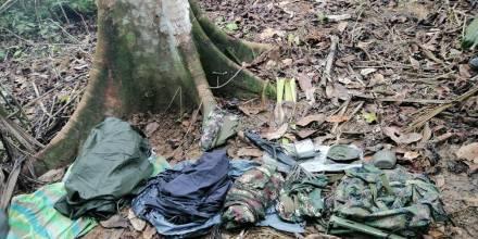 4 bases clandestinas han sido localizadas en Sucumbíos en 2 semanas / Foto: cortesía de las Fuerzas Armadas