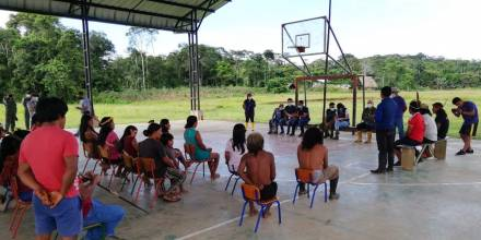 Vacunación a waoranis en la zona intangible arranca hoy / Foto cortesía Ministerio de Salud