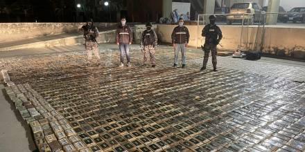 Ecuador decomisa 3 toneladas de cocaína con trasfondo de crisis carcelaria / Foto: cortesía Policía Nacional