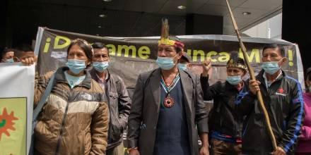 Kichwas reclaman justicia por derrame de Petroecuador y OCP / Foto EFE