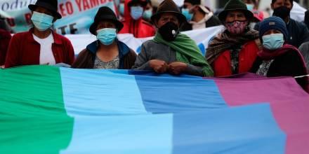 Marcha indígena en Cotopaxi pide soluciones a crisis económica en el país/ Foto: EFE
