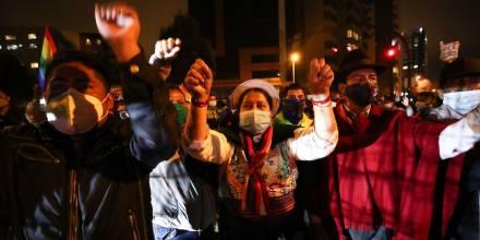 Indígenas piden anular elecciones y llaman a paro contra el fraude / Foto EFE