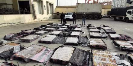 Policía incauta de unas cinco toneladas de cocaína en Guayas / Foto: cortesía Policia Nacional