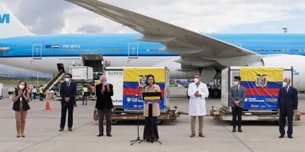 Covid-19: Ecuador recibe el mayor cargamento de vacunas de China / Foto: Cortesía de la Presidencia